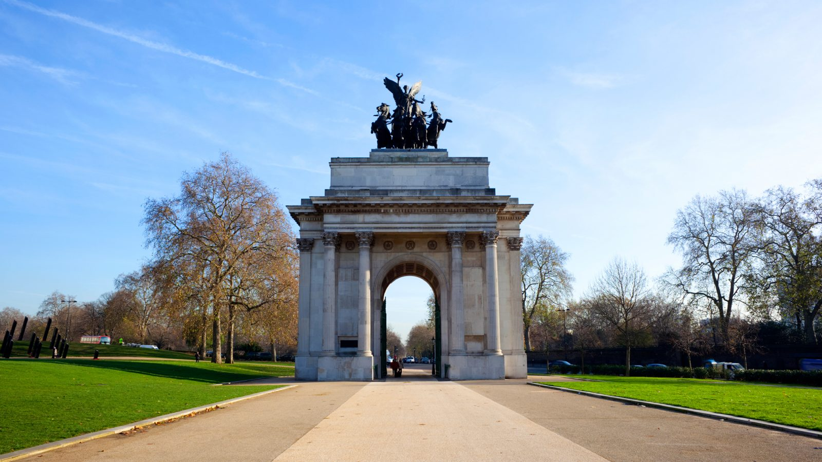 The Wellington Arch in Green Park London