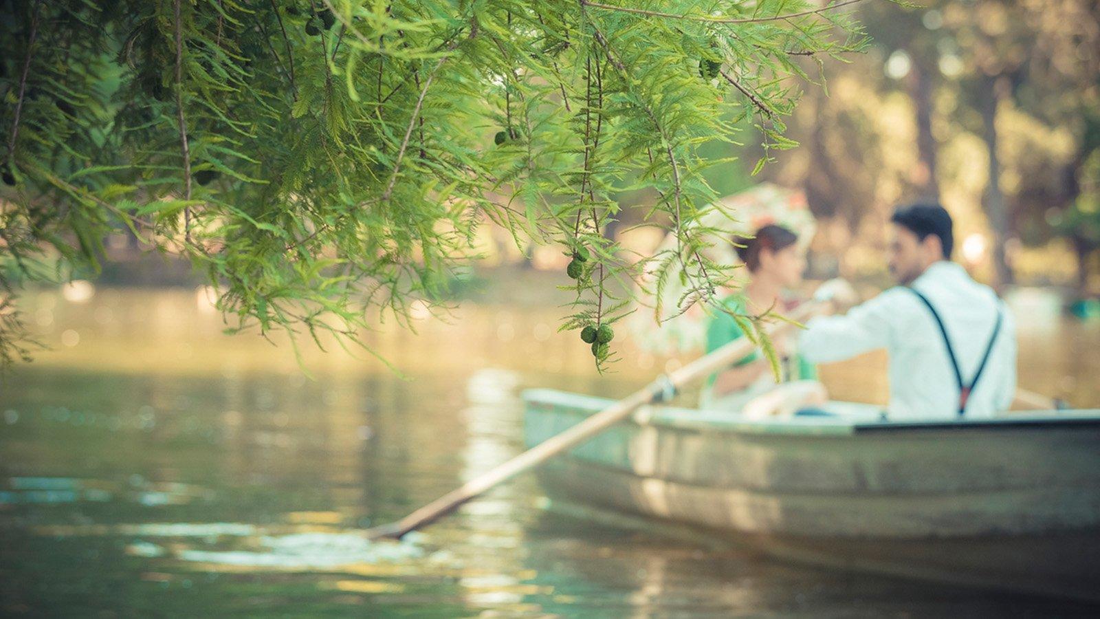 Boating on the Laghetto di Villa Borghese