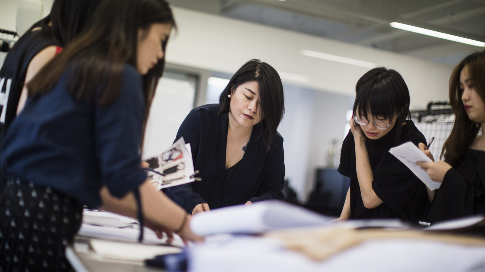 Masha Ma meets with her design team at her studio in Shanghai, China.