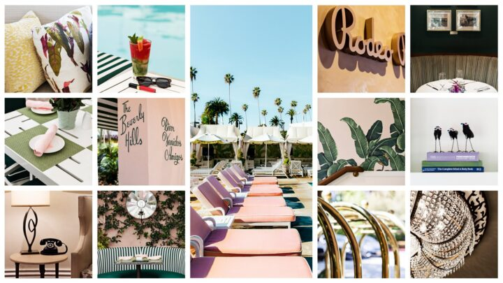A range of images from The Beverly Hills Hotel