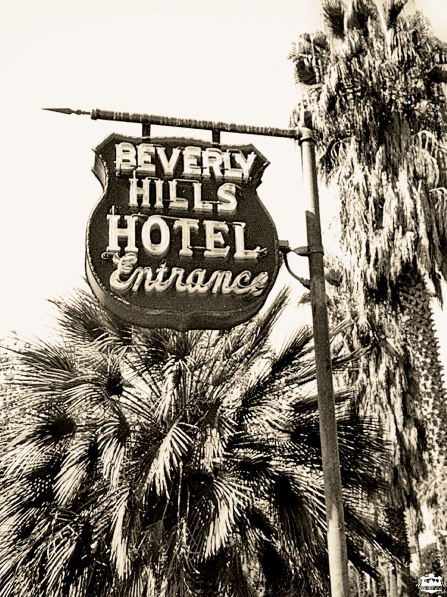 Vintage hotel entrance sign