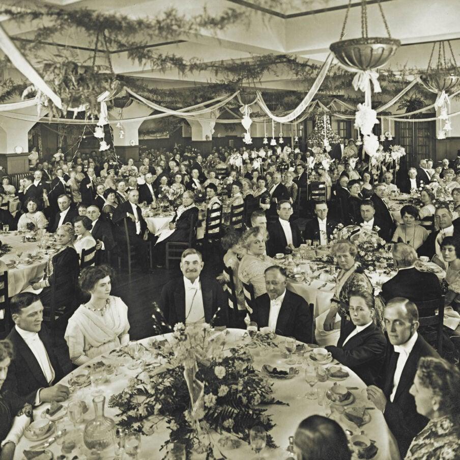 Opening dinner 1900s