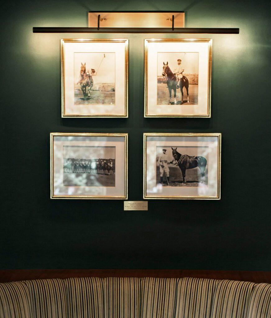 Historical images in Polo Lounge