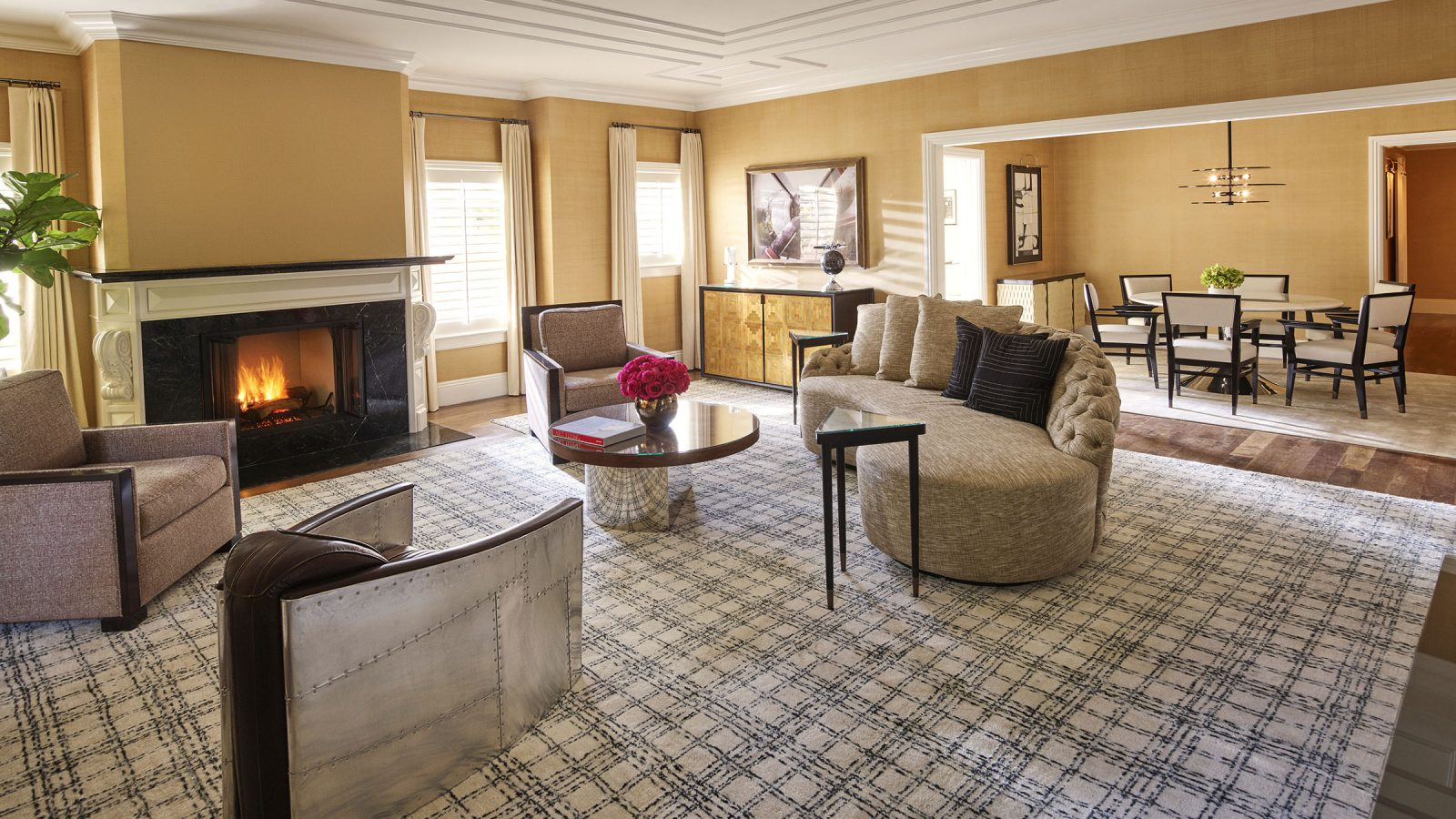 Inside the bungalows at The Beverly Hills Hotel