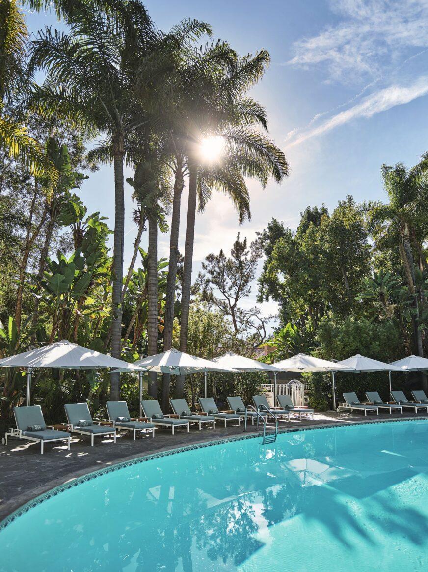 Sun soaked pool at Hotel Bel-Air