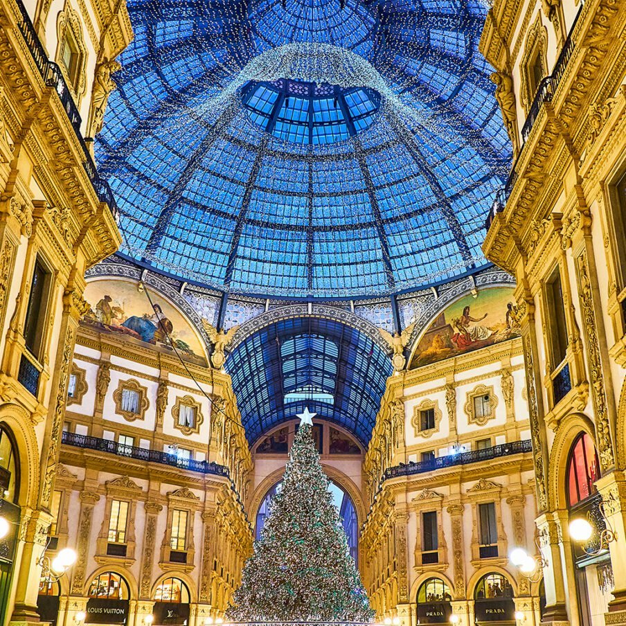 Christmas in Milan shopping gallery