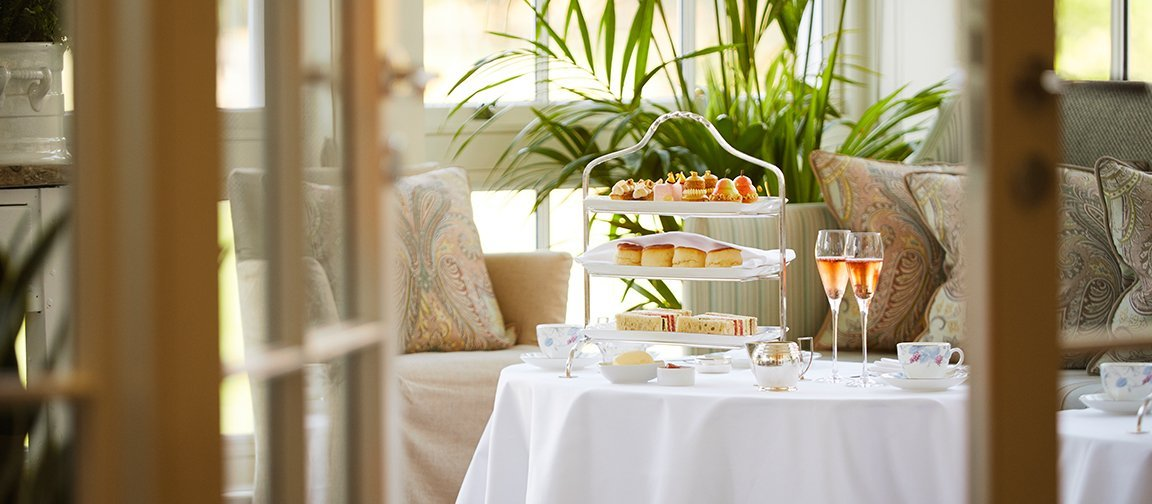 Coworth Park-Drawing Room Conservatory-Orchard Afternoon tea-16x7