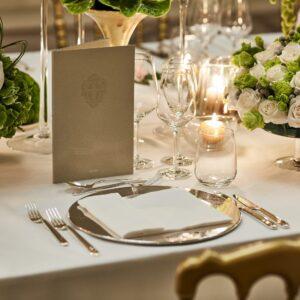Hotel Principe di Savoia, Event spaces, Cristalli gala dinner detail