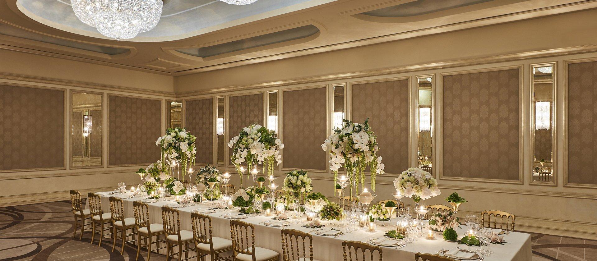 Hotel Principe di Savoia event spaces Cristalli space, gala dinner