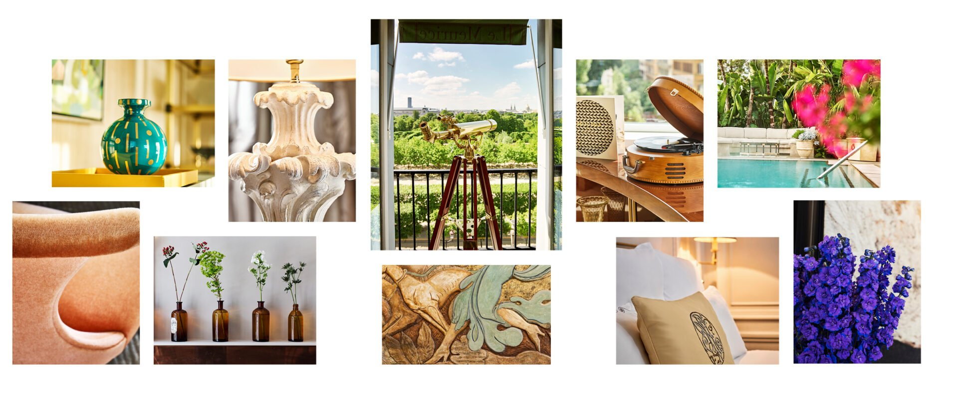 Collage of Dorchester Collection hotels