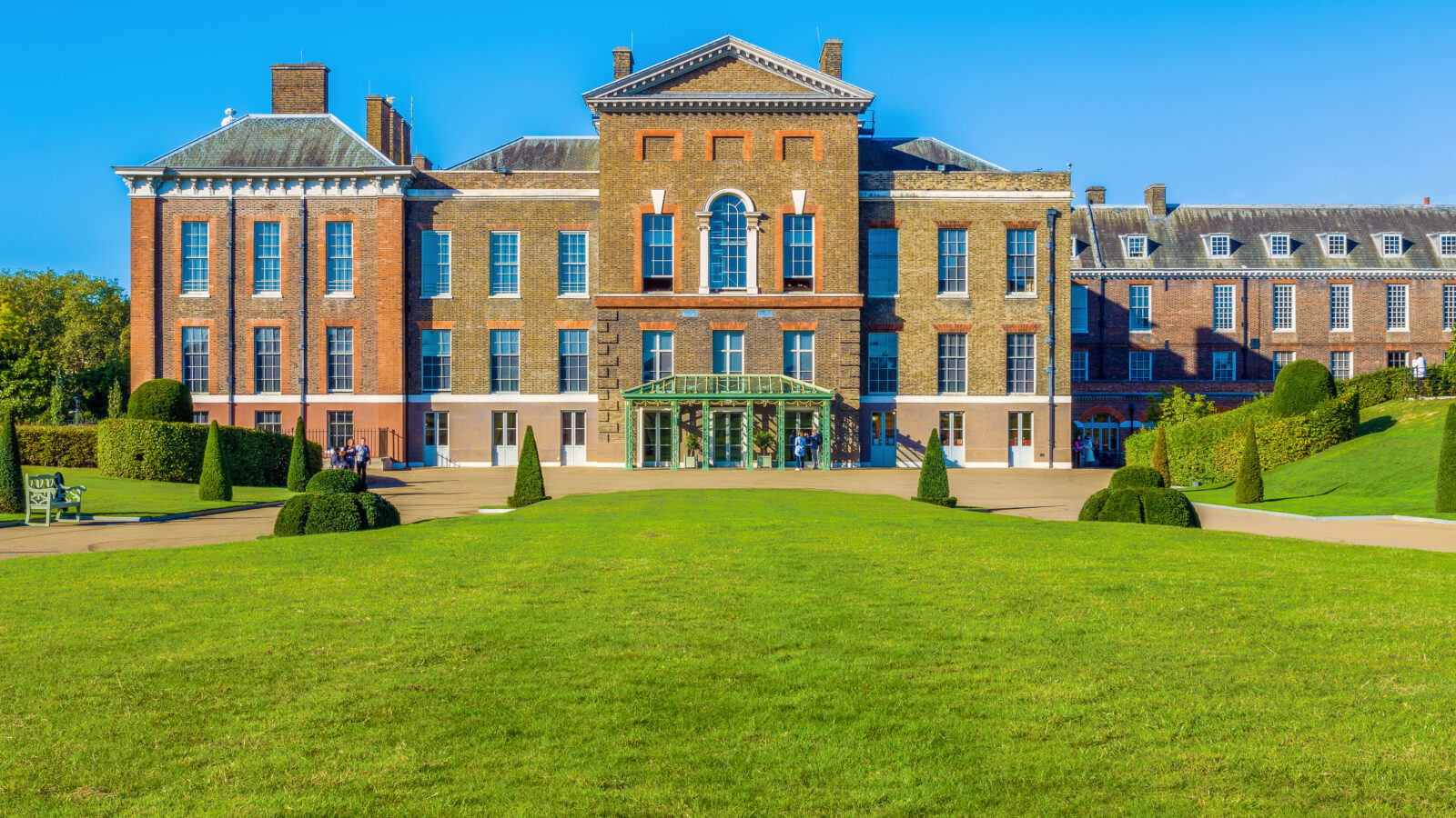 Exterior of Kensington Palace in Hyde Park London-shutterstock 689448691