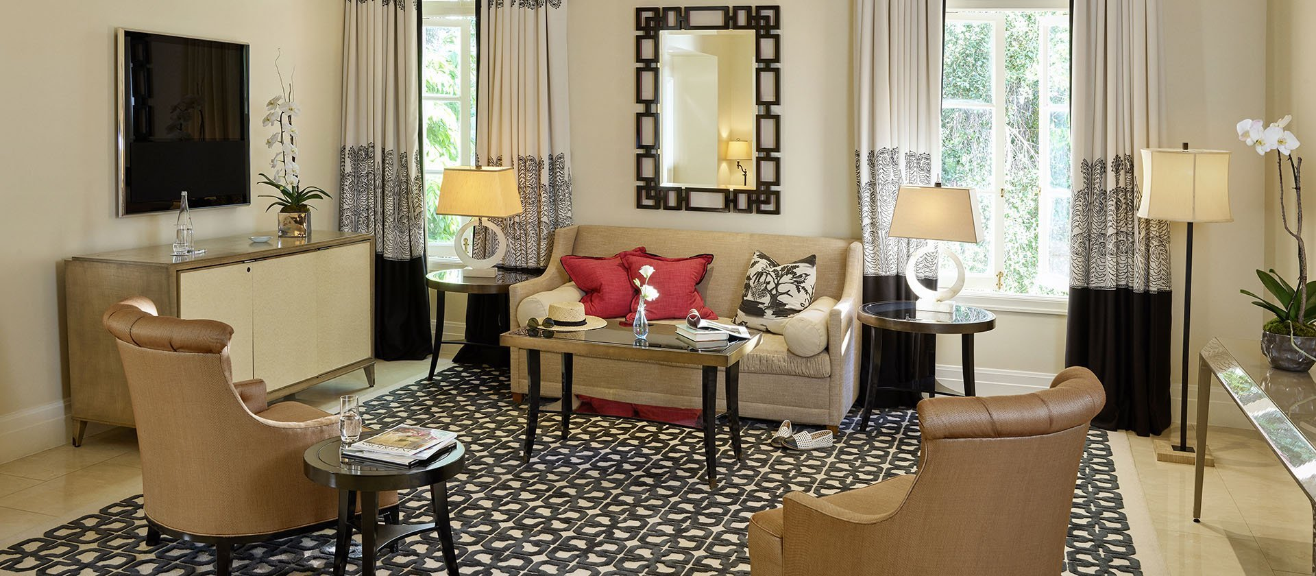 Two Bedroom Suite With Balcony At Hotel Bel Air Dorchester Collection