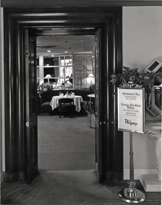 Historic Polo Lounge entrance