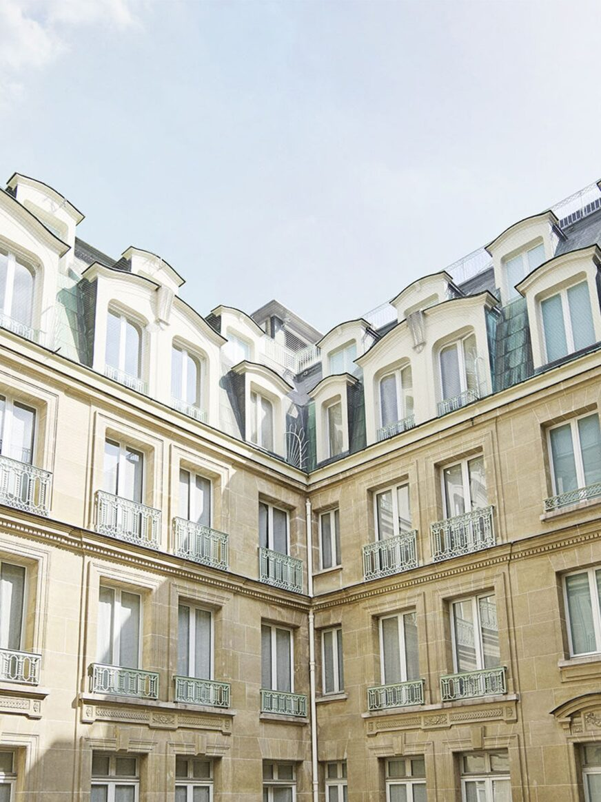 Our tranquil, Parisian courtyard