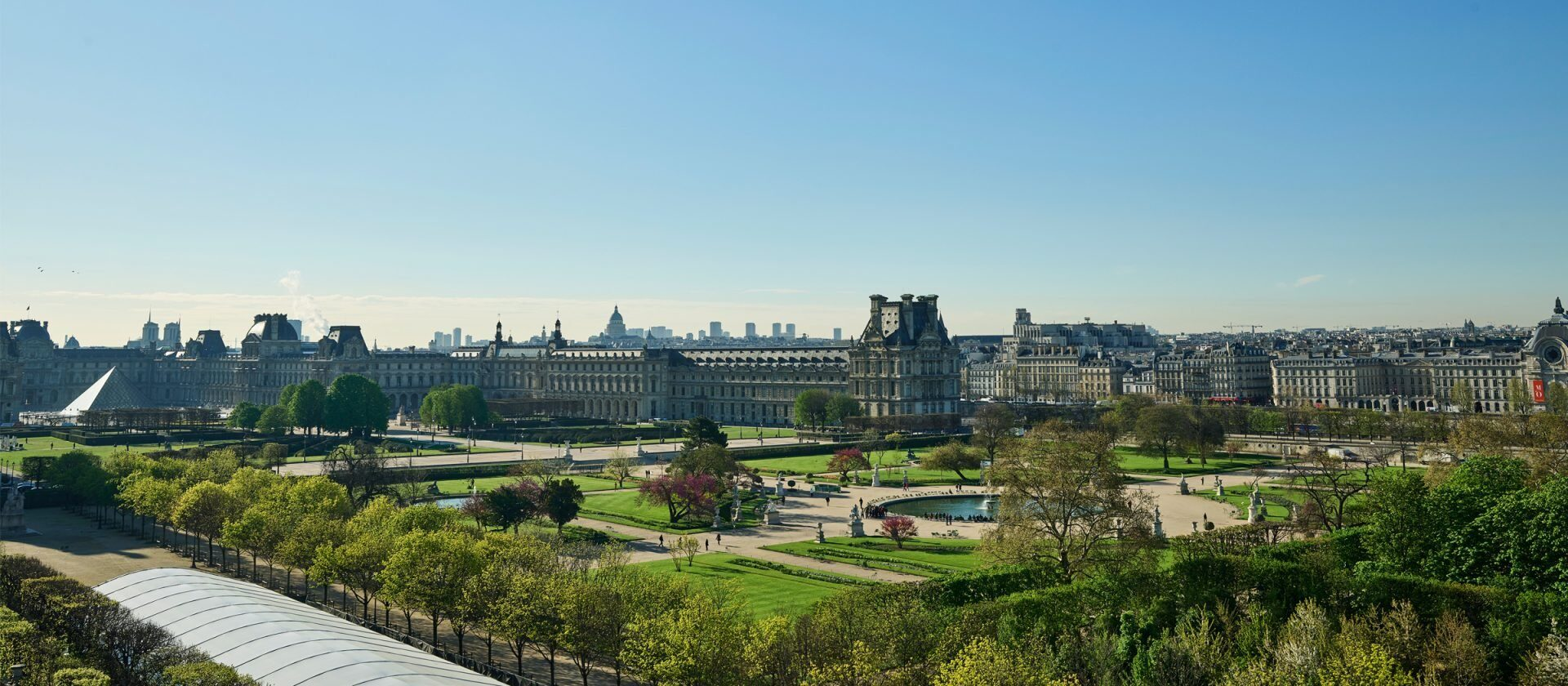 Views of the Paris skyline from the terrace at Belle Etoile Penthouse Suite at Le Meurice