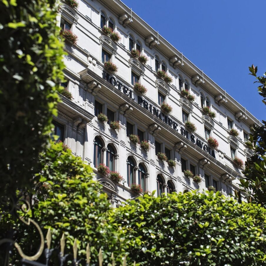 Milan Hotel Principe Facade Day Square