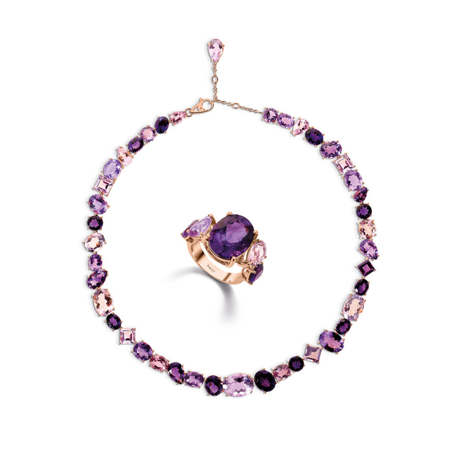 Purple Chaos Necklace and Ring