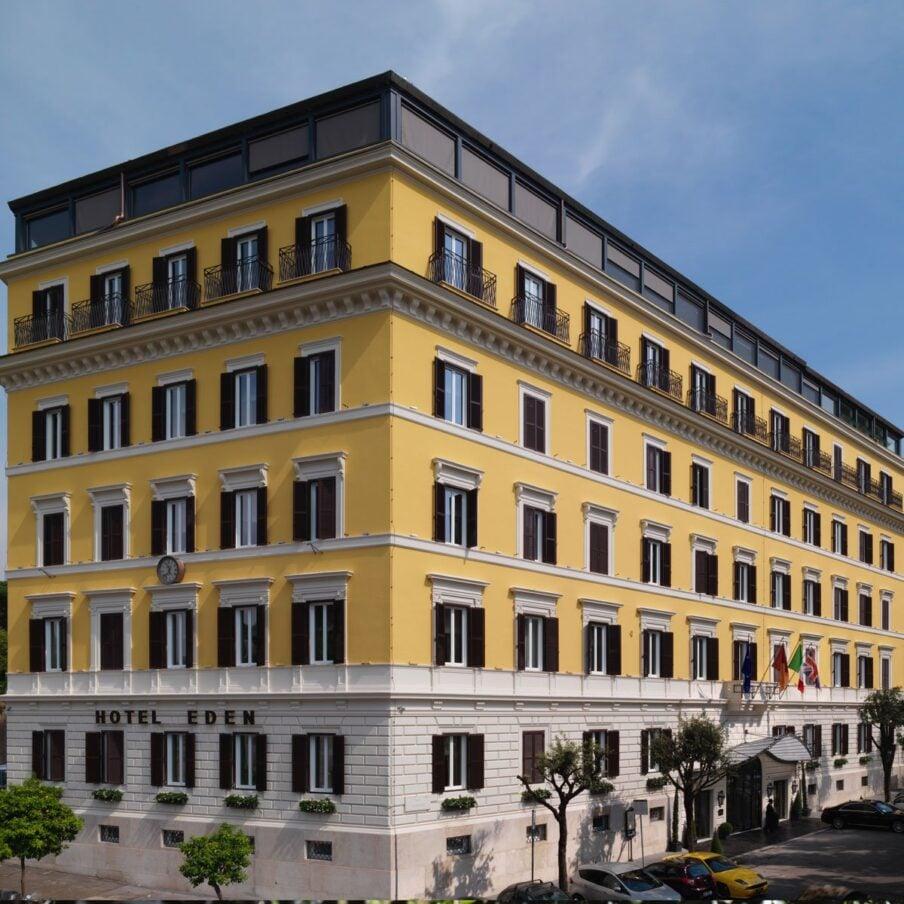 Rome Hotel Eden Facade Day Square