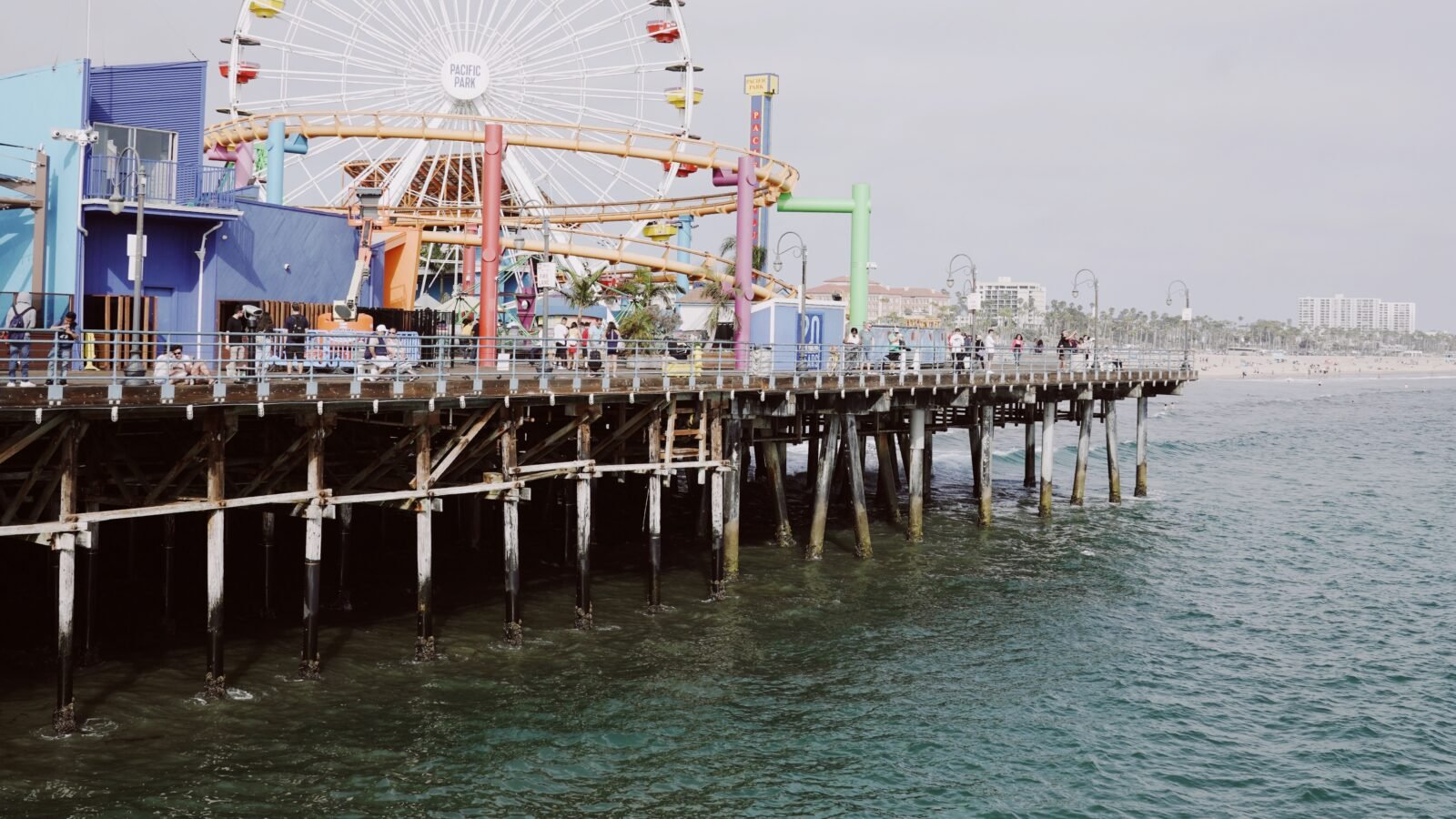 View of ocean and Santa Monica pier