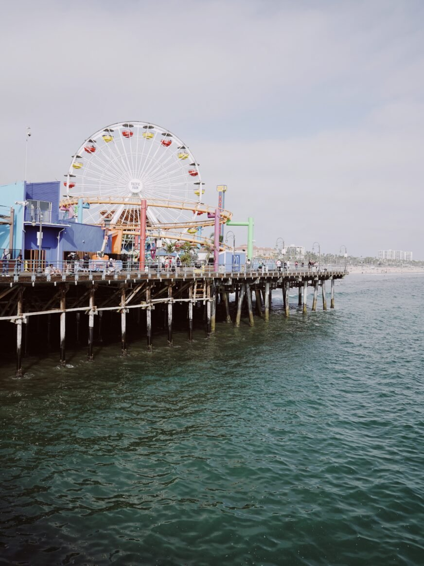View of ocean and Santa Monica pier