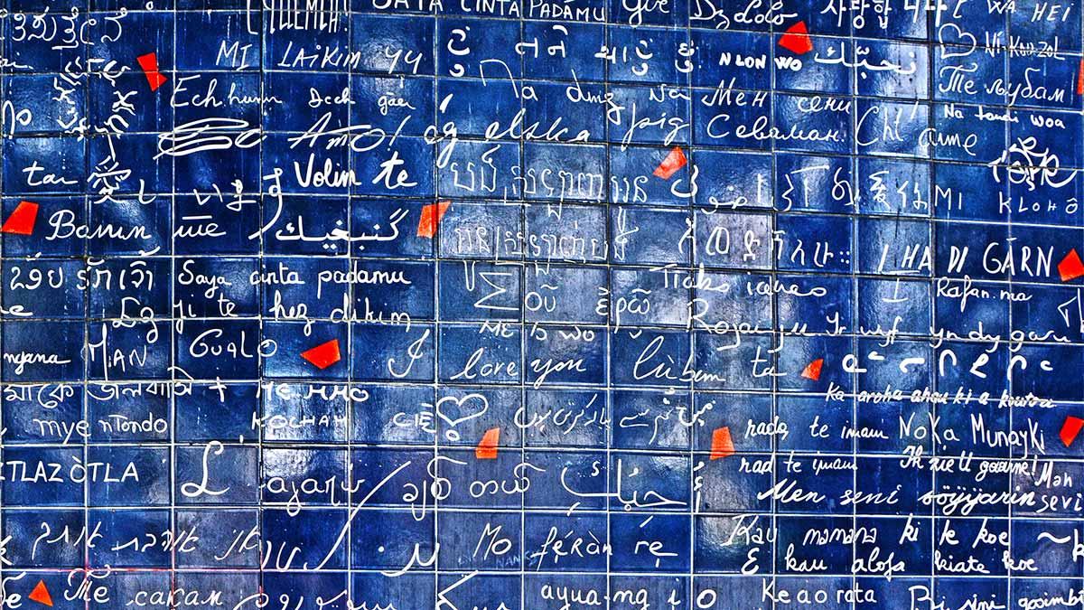 Jehan-Rictus Square - Wall of Love Paris