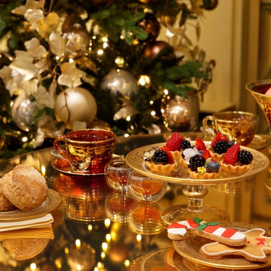 Festive chocolate afternoon tea