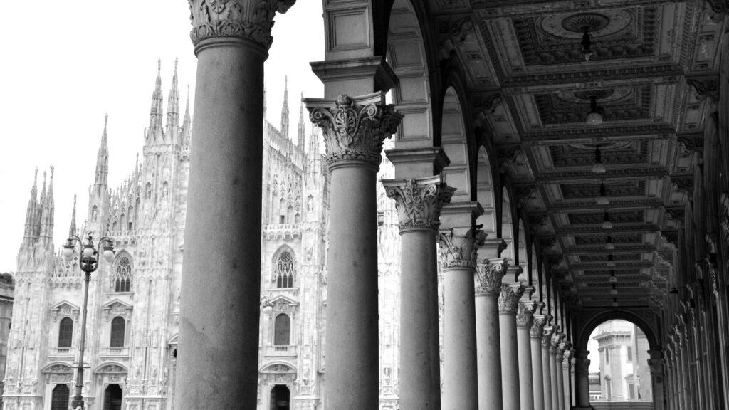 Hotel Principe di Savoia - Milan View - Duomo b&w