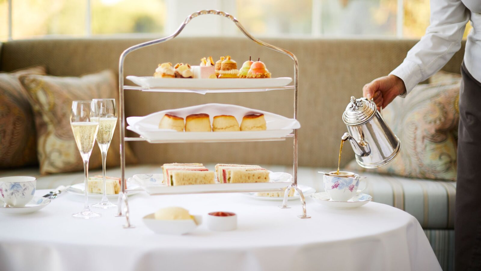 Easter champagne afternoon tea