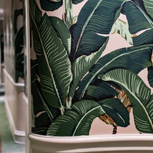 banana palm leaf prints Beverly Hills Hotel