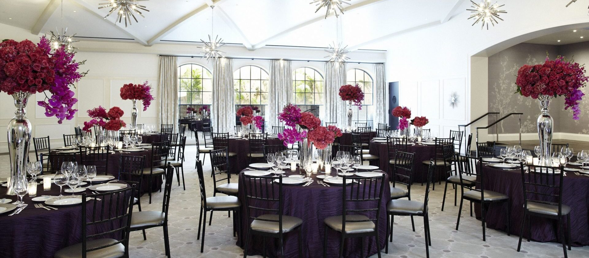 garden ballroom rounds set for formal event
