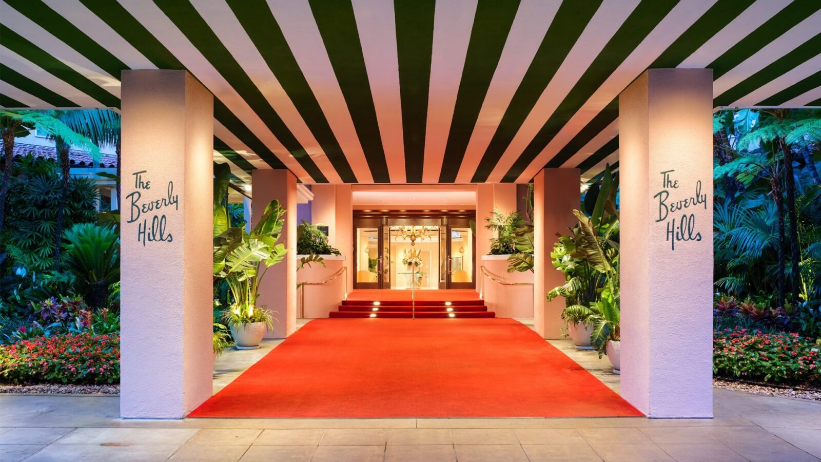 Red carpet main hotel entrance