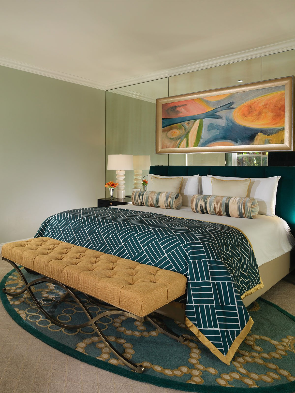 Beverly Hills Sunset Suite Bedroom Portrait | Dorchester Collection
