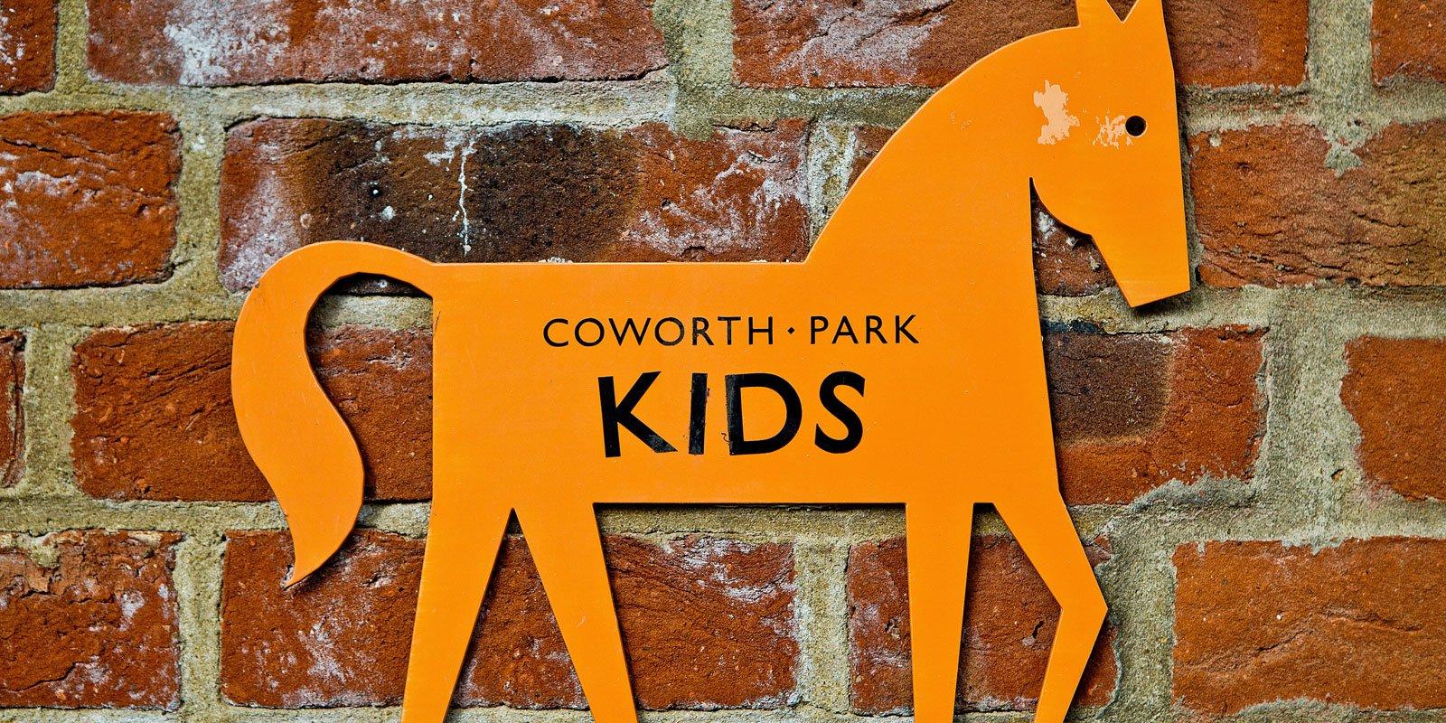 Coworth Park Kids Club Sign
