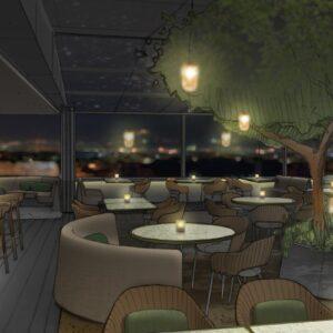 Hotel Eden Il Giardino ristorante bar extorior at night