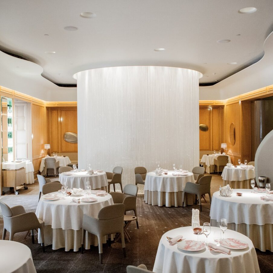 London The Dorchester Alain Ducasse At The Dorchester Restaurant Main Room Square