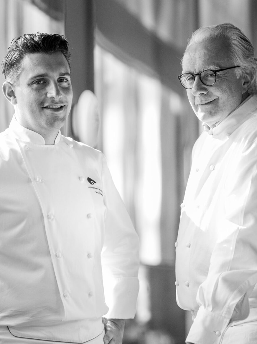Executive Chef Jean-Philippe Blondet with Alain Ducasse ©Pierre Monetta