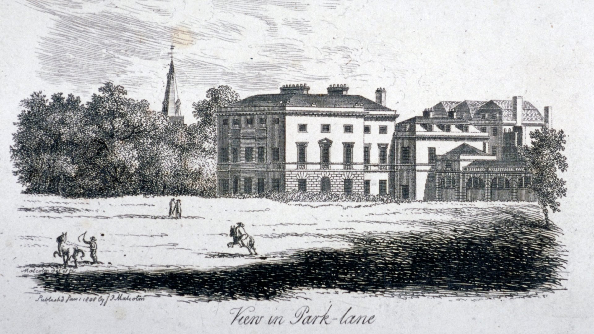 London Park Lane Dorchester House in 1792