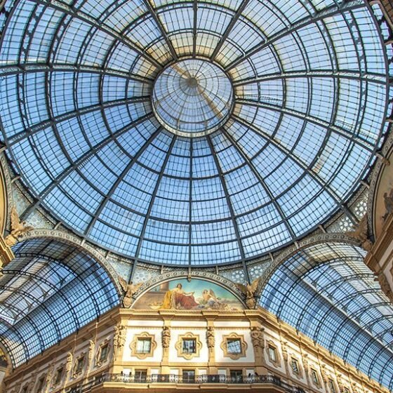 Glass roof of the Galleria Vittorio Emanuele II