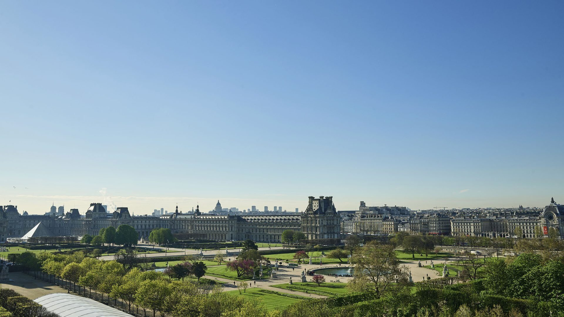View of the Tuileries Garden from Le Meurice Hotel in Paris