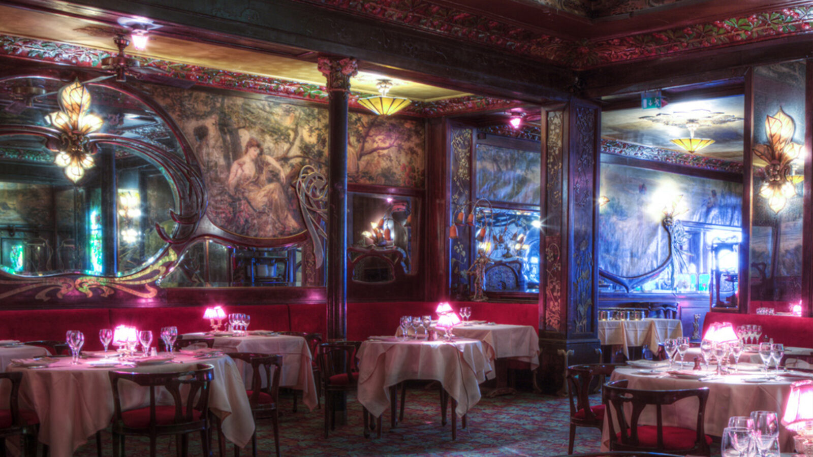 this is a picture of the Maxim's restaurant in Paris