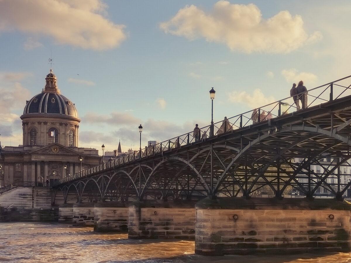 this image shows the pont des arts in paris