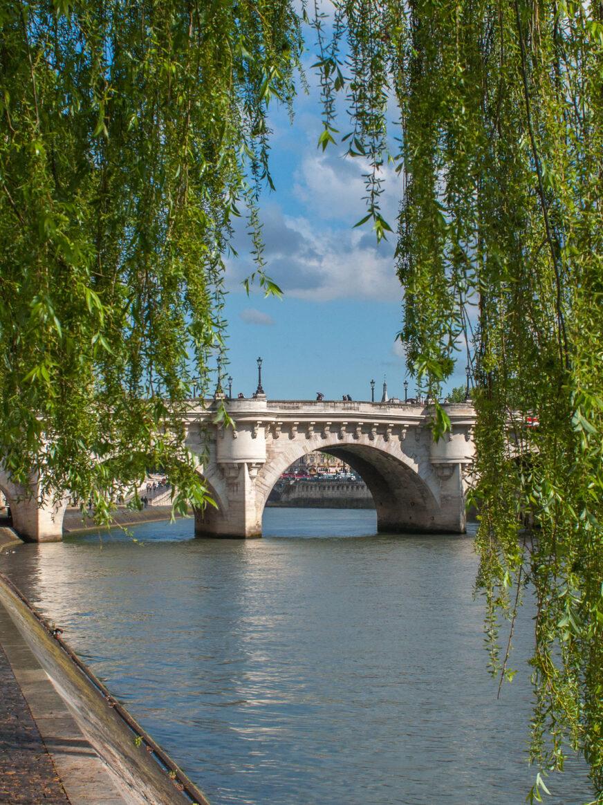 this image shows the Pont Neuf bridge in Paris