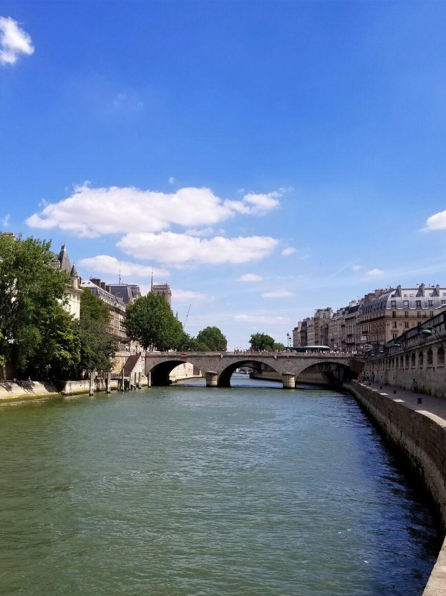 This image shows the Pont Saint Michel in Paris