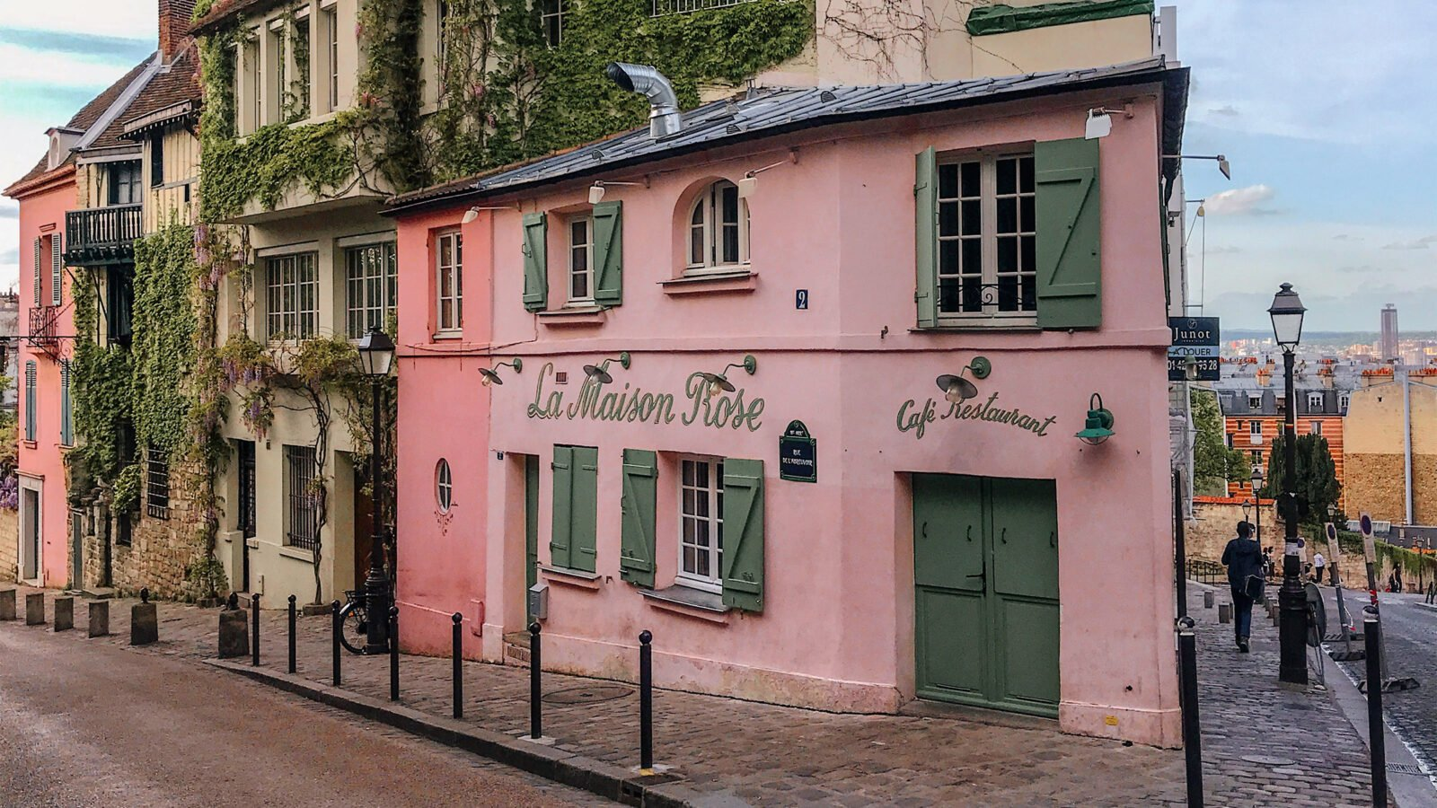 this image shows the Maison Rose in Paris