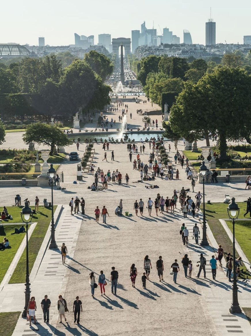 This image shows the Tuileries garden in Paris