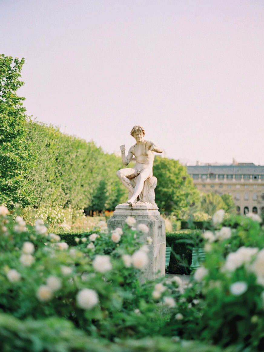 This image shows a statue in the Tuileries Garden in Paris