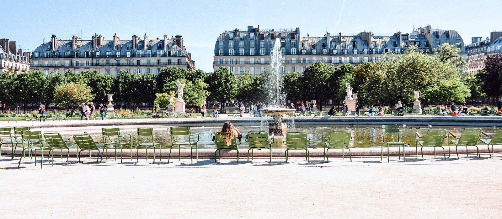 This image shows the Tuileries Garden's foutain