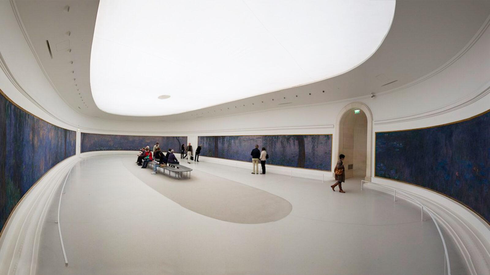 The Interior of Musée de l'Orangerie in Paris, France.