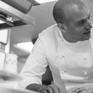 Chef Mathieu Emeraud at La Cour Jardin
