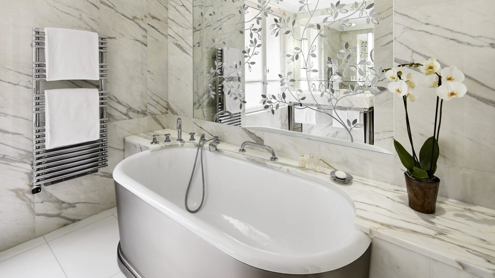 Bathe in cool sophistication